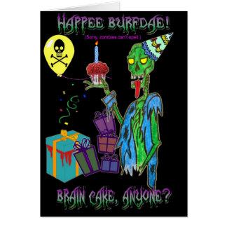 tarjeta de cumpleaños del zombi (espacio en blanco