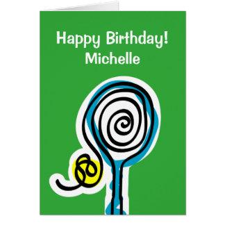 Tarjeta de cumpleaños deportiva para el jugador de