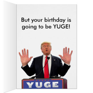 Tarjeta de cumpleaños divertida de Donald Trump