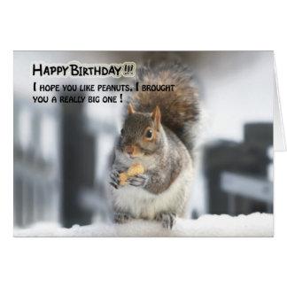 Tarjeta de cumpleaños divertida de la ardilla - ca
