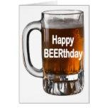 Tarjeta de cumpleaños divertida de la CERVEZA BEER