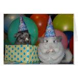 Tarjeta de cumpleaños divertida de la chinchilla