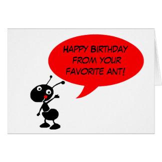 tarjeta de cumpleaños divertida de la tía