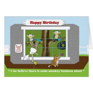 Tarjeta de cumpleaños divertida de las estupideces