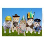 Tarjeta de cumpleaños divertida de los gatitos del