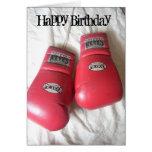 Tarjeta de cumpleaños divertida de los guantes de