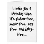 Tarjeta de cumpleaños divertida de Paleo