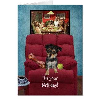 Tarjeta de cumpleaños divertida de un perro