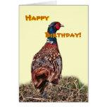 Tarjeta de cumpleaños divertida del faisán
