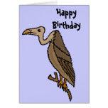 Tarjeta de cumpleaños divertida del halcón