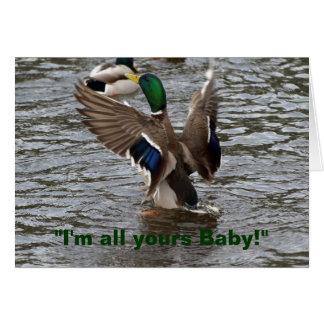 Tarjeta de cumpleaños divertida del pato del pato