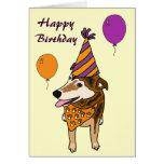 Tarjeta de cumpleaños divertida del perrito AI