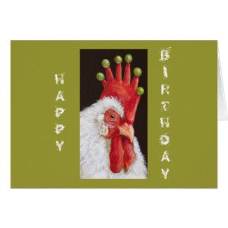 Tarjeta de cumpleaños divertida del pollo todos no