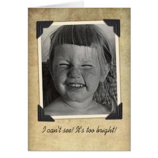 Tarjeta de cumpleaños divertida del vintage