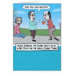 Tarjeta de cumpleaños divertida del zombi