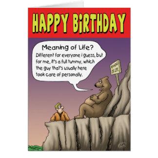 Tarjeta de cumpleaños divertida: Día satisfaciente