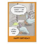 Tarjeta de cumpleaños divertida: Enfermo de la pal