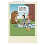 Tarjeta de cumpleaños divertida: Instinto del oso