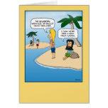 Tarjeta de cumpleaños divertida: La isla