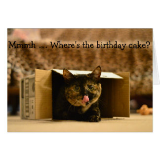Tarjeta de cumpleaños divertida: Labio-lamedura