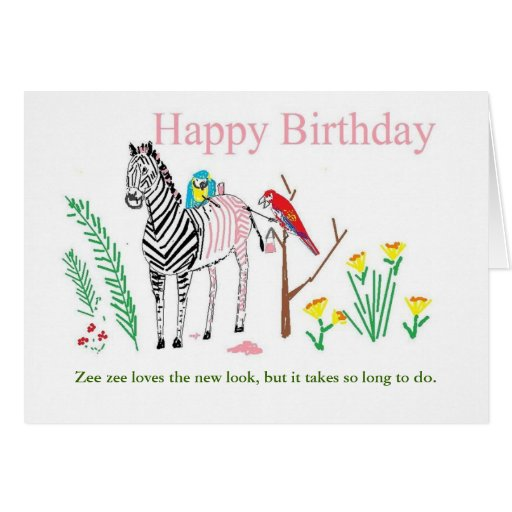 Tarjeta de cumpleaños divertida para ella