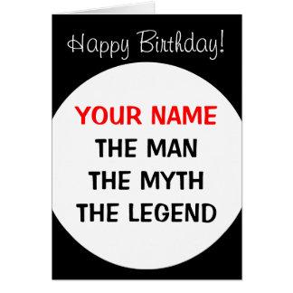 Tarjeta de cumpleaños divertida para los hombres