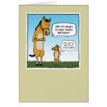Tarjeta de cumpleaños divertida: Pequeño caballo