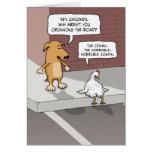 Tarjeta de cumpleaños divertida: Perro y pollo