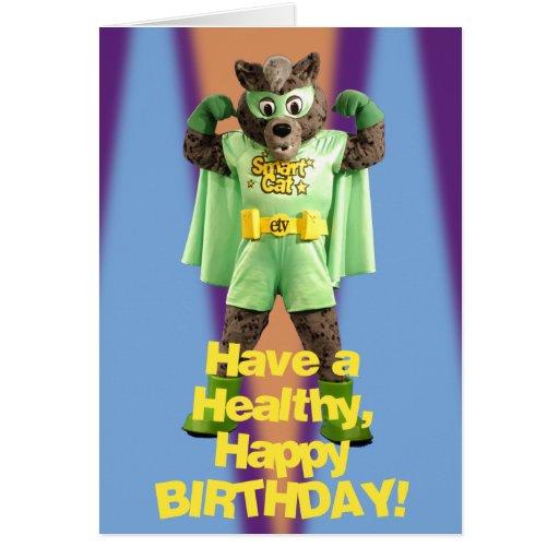 Tarjeta de cumpleaños elegante del gato de ETV