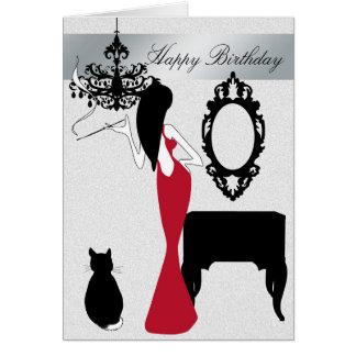 Tarjeta de cumpleaños elegante y elegante