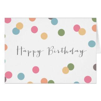 Tarjeta de cumpleaños en blanco del punto del conf