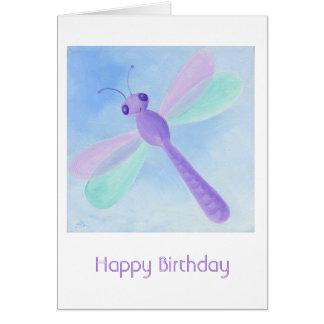 Tarjeta de cumpleaños en colores pastel de la libé