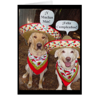 Tarjeta de cumpleaños en español