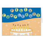 Tarjeta de cumpleaños española