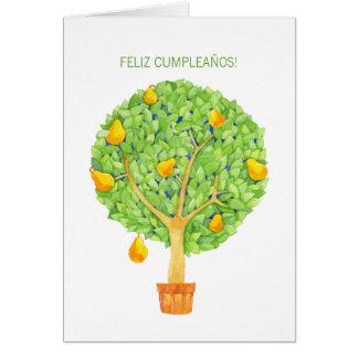 Tarjeta de cumpleaños española de Feliz Cumpleaños
