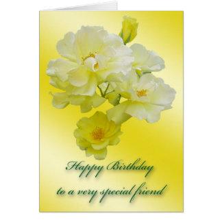 Tarjeta de cumpleaños especial del amigo de los ro