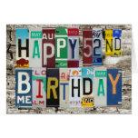 Tarjeta de cumpleaños feliz de las placas 52.a