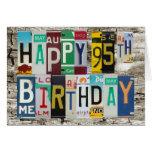 Tarjeta de cumpleaños feliz de las placas 95.a