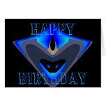 Tarjeta de cumpleaños feliz del héroe