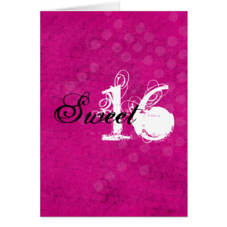 Tarjeta de cumpleaños feliz rosada del dulce dieci