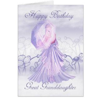 Tarjeta de cumpleaños femenina linda de la bisniet