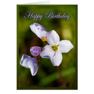 Tarjeta de cumpleaños - flor de cuco - pratens del