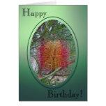 Tarjeta de cumpleaños - flor del Banksia
