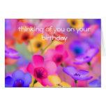Tarjeta de cumpleaños floral bonita