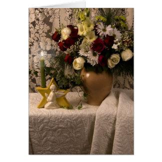 Tarjeta de cumpleaños floral de la vida del florer