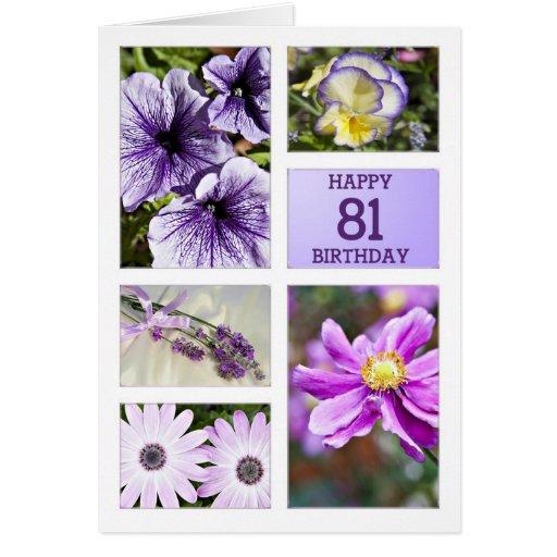 Tarjeta de cumpleaños floral de las tonalidades de