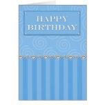 Tarjeta de cumpleaños formal