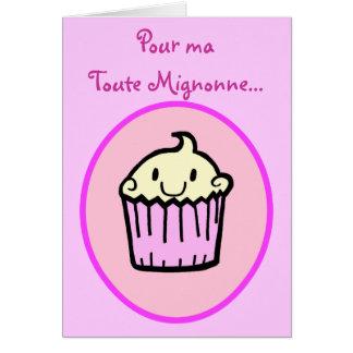 Tarjeta de cumpleaños francesa de la magdalena lin
