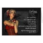 Tarjeta de cumpleaños gótica del zodiaco del aries