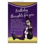 tarjeta de cumpleaños gótica - thaughts del cumple